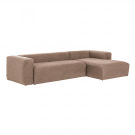 Sofá Blok 3 plazas chaise longue derecho rosa 330 cm