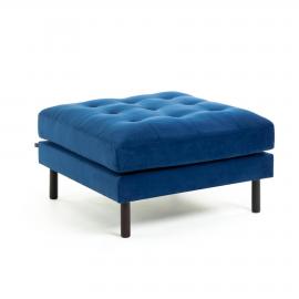BOGART Puf 80 x 80 cm terciopelo azul