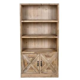 Estantería rústica madera. 88x37x170 cm.