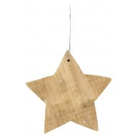 Estrella navideña madera.