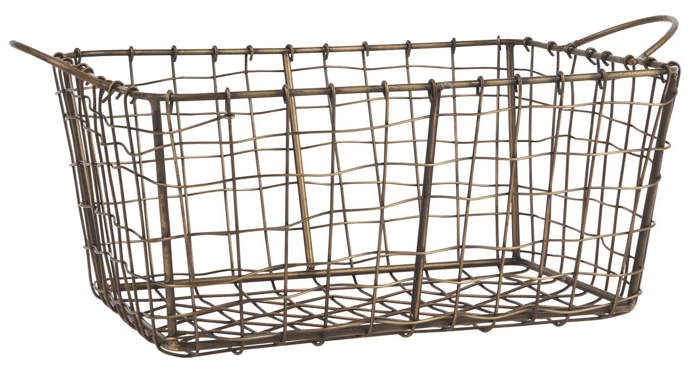 cobrizo mDesign Cesta Colgante de Metal Resistente a la corrosi/ón Cestas met/álicas Grandes para Cocina y despensa Robustos estantes de Cocina para Alimentos y Utensilios de Cocina