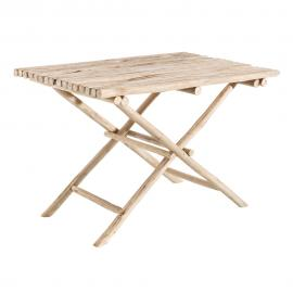 MESA PLEGABLE NATURAL MADERA 110 X 70 X 74 CM