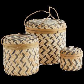 Caja bambú con tapa. Varios tamaños.