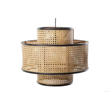 LAMPARA DE TECHO RATAN-MADERA 45x45x40 CM