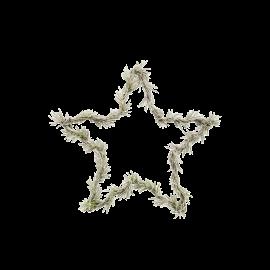 Corona navideña con forma de estrella