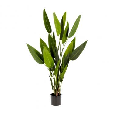 Planta artificial Strelitzia nicolai con maceta negro 160 cm