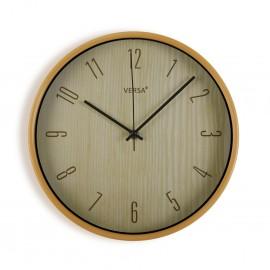 Reloj de pared efecto madera.