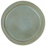 Plato llano de cerámica azul light H: 3 Ø: 28