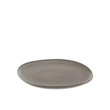 Plato cerámica topo.