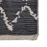 ALFOMBRA BEIGE-GRIS ALGODÓN DECORACIÓN 160 X 230 CM