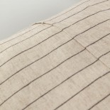 Funda de cojín Sagira 45 x 45 cm rayas gris