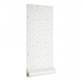 Papel pintado Miris estampado de topos y triángulos multicolor 10 x 0,53 m