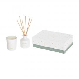 Set White Soul de ambientador en sticks 50 ml y vela aromática 70 gr
