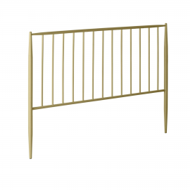 Cabecero Natacha de metal con acabado dorado 168 x 110 cm