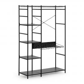 STORN Armario abierto 120x182 metal negro
