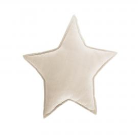 Cojín estrella Noor 100% algodón orgánico (GOTS) beige 44 x 30 cm