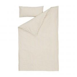 Set Ghia funda nórdica, bajera y funda almohada algodón orgánico GOTS rayas 70 x 140 cm
