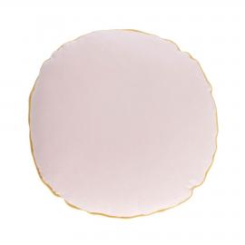 Funda cojín redondo Fresia 100% algodón orgánico rosa Ø 45 cm