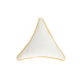 Cojín triangular Fresia 100% algodón orgánico blanco
