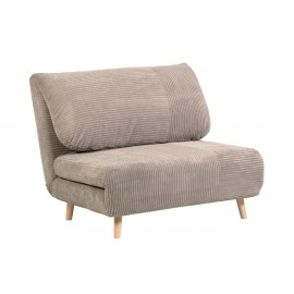 Sofá cama Keren 106 cm de pana beige