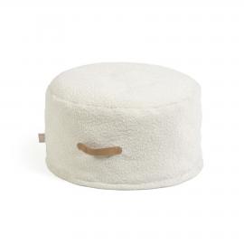 Puf Adara borrego blanco Ø 50 cm