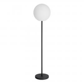 Lámpara de pie exterior Dinesh acero negro