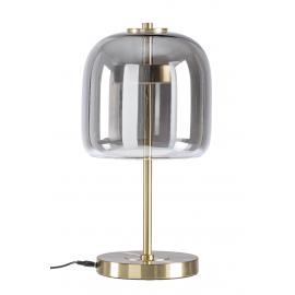 Lámpara de mesa cristal ahumado.