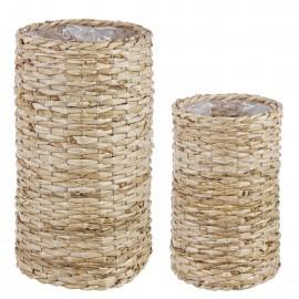 Macetero fibras naturales. Varios tamaños.