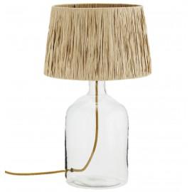 Lámpara de mesa de vidrio.