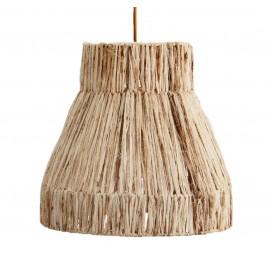Lámpara de techo de fibra natural.