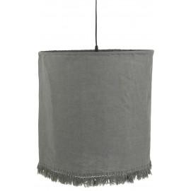 Lámpara de techo de lino gris