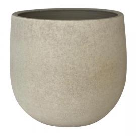 Maceta cerámica blanca.