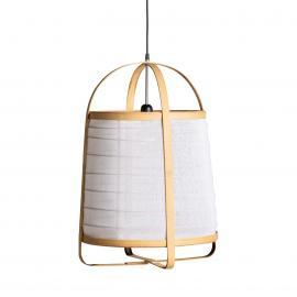Lampara de lino y bambú