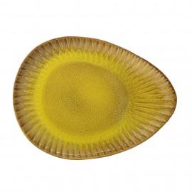Plato grande cerámica amarillo.