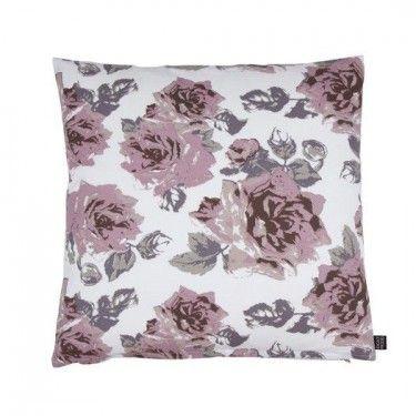 cojín rosas relleno de plumas 50x50