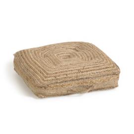 Cojín de suelo Abir yute 63 x 63 cm