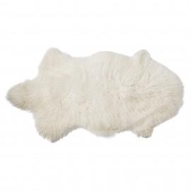 Alfombra Mongolia blanca.90x50 cm.