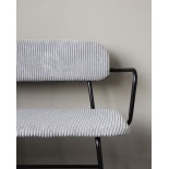 Banco de pana gris claro 170 x 56 x 77 cm