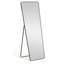 Espejo de pie Nyah metal negro 63,5 x 165 cm