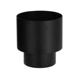 Macetero redondo Mash metal negro Ø 28 cm