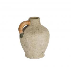 Jarrón Agle cerámica gris 25 cm