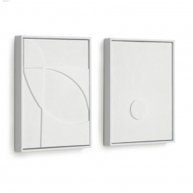 Set Brunella de 2 cuadros blanco 32 x 42 cm