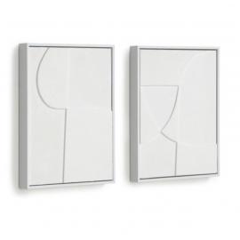 Set Beija de 2 cuadros blanco 32 x 42 cm