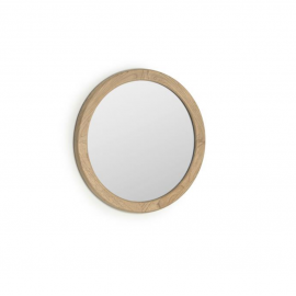 Espejo redondo Alum madera maciza mindi Ø 50 cm