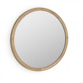 Espejo redondo Alum madera maciza mindi Ø 80 cm