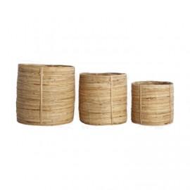 Cesta bambú y ratán. Varios tamaños.