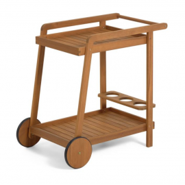 Mesa camarera de exterior Felisa madera maciza acacia 55 x 73 cm