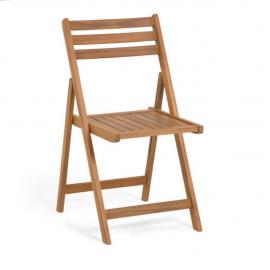 Silla plegable de exterior Daliana madera maciza acacia
