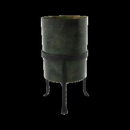 Maceta de hierro en color verde