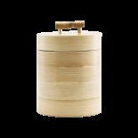 Caja de bambú con tapa